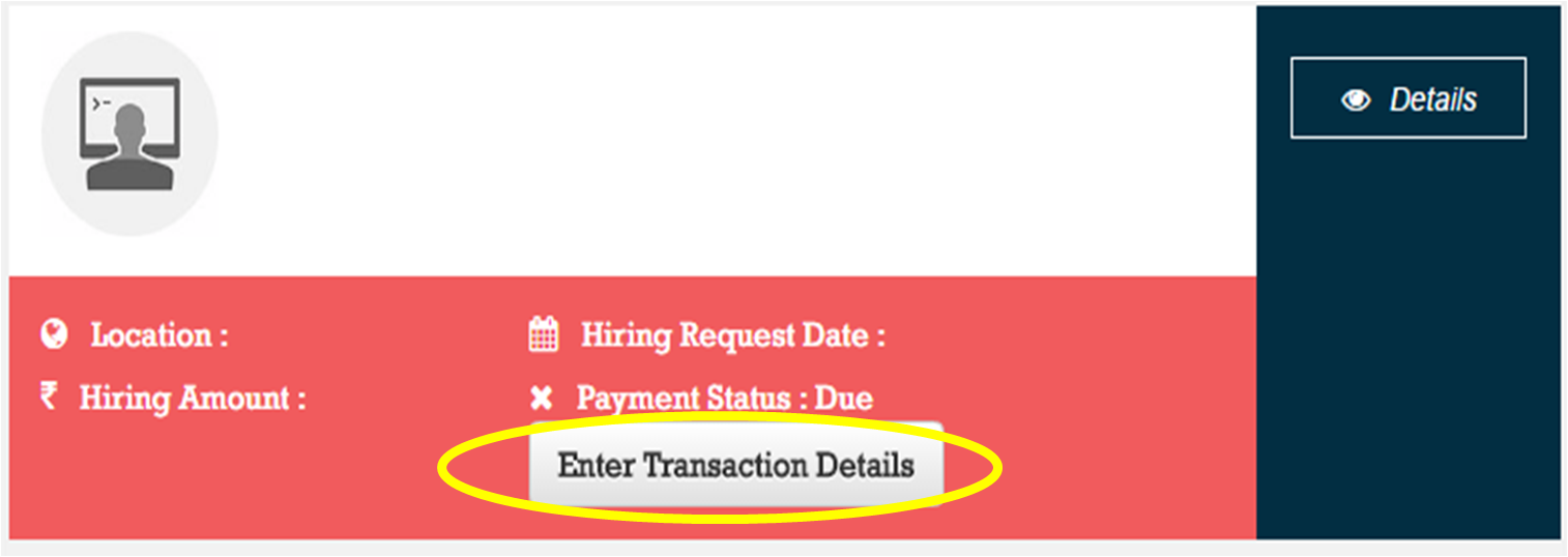 Enter Transaction Details Button